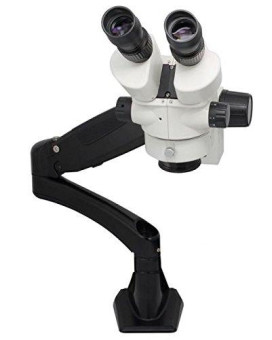 LW Scientific Z4 Zoom Trinoc 3.5x-45x with 0.5x lens on PneuFLEX-Arm (no light)