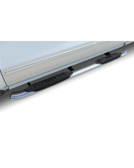 """99-17 Chevy Silverado/Gmc Sierra 1500/2500/3500 Extended Cab/Double Cab (W/ Def Tank) 4"""" Oe Style Curved Ss Oval Steps"""