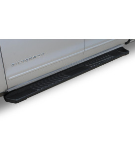 19-19 Chevy Silverado/Gmc Sierra 1500 Double Cab 6 Inch Black Textured Aluminum Oem Running Boards
