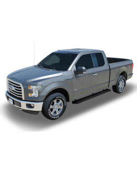 15-18 Ford F-150 Super Cab; 17-18 F-250/350 Super Duty Super Cab 6 Inch Black Textured Aluminum Oem Running Boards