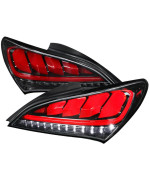 2DR LED TAIL LIGHTS GLOSSY BLACK WITH SEQUENTIAL