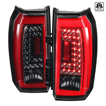 LED TAIL LIGHTS- GSY BLK- CLEAR LENS