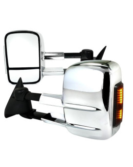 TOWING MIRRORS MANUAL CHROME COVER WITH LED SIGNAL