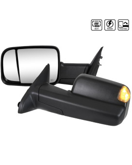 TOWING MIRRORS- POWER HEATED LED- FIT 1500 2500 3500
