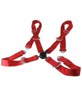 4 POINT HARNESS CAM LOCK SEAT BELT - RED