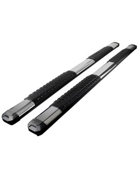 5 INCH SIDE STEP BAR SABER STYLE - CREW CAB