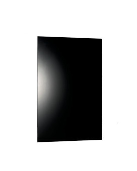 WarmlyYours Ember Heating Panel Glass Black 800W - 47 in. x 24 in., 6.7A