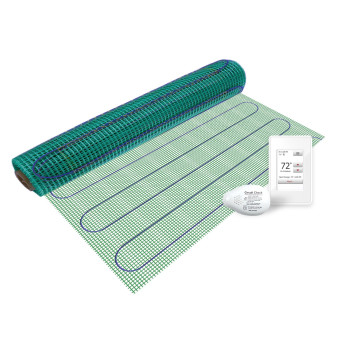 Floor Heating Kit 120V-TempZone Easy Mat 3.0' x 05' + Touch Screen Thermostat
