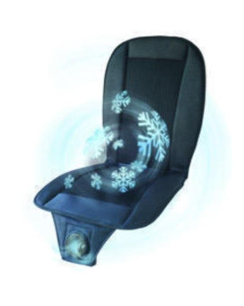 Air Cooled Seat Cover in Black