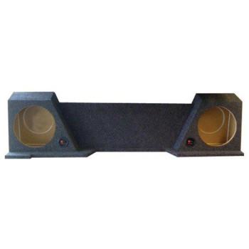 """Empty Woofer Box Dual 10"""" for GMC XCab 07-13 high transmission"""