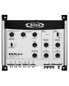 Boss 3 Way electronic Crossover subwoofer input & output