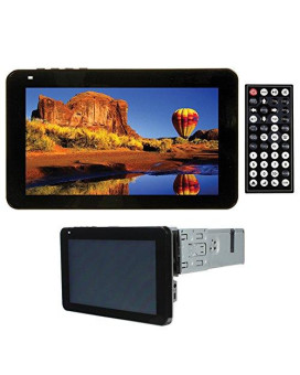 "Tview Oversized 7"" In-Dash Touch Screen W/Built in DVD USB SD AUX Bluetooth detachable f"