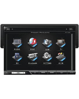 "Power Acoustik Oversized 7"" Detach Touch Screen Receiver TFT/LCD DVD AM/FM Bluetooth A2DP"