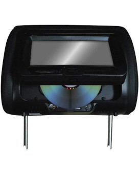 """Tview 7"""" In Headrest Monitor with DVD Player Built in Speakers Remote Black"""