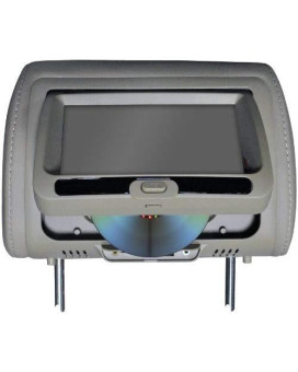 """Tview 7"""" In Headrest Monitor with DVD Player Built in Speakers Remote Gray"""