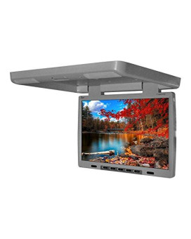 """Tview 9""""TFT LCD flip down monitor with built in DVD player Gray"""