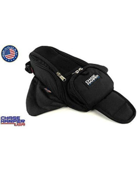 Chase Harper Usa 1602M Black Manta X2 Magnetic Tank Bag - Water-Resistant, Tear-Resistant, Industrial Grade Ballistic Nylon With Anti-Scratch Rubberized Polymer Bottom, Super Strong Neodymium Magnets