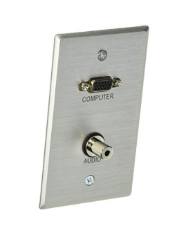 Aluminum C2G 40488 1 Inch Grommet Cable Pass Through Single Gang Wall Plate