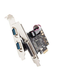 Syba Sd-Pex50030 2 Port Db9 Serial And 1 Port Db25 Parallel Pcie X1 Controller Card Black