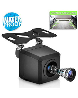 Universal Mount Front Rear Camera - Marine Grade Waterproof Built-In Distance Scale Lines Backup Parking/Reverse Assist Cam W/ Night Vision Led Lights 420 Tvl Resolution &Amp; Rca Output - Pyle Plcm37Frv