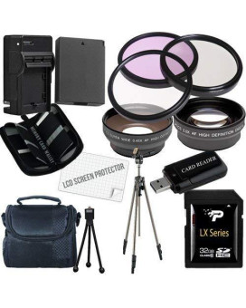 Canon T3 And T5 Accessory Saver Kit (58Mm Wide Angle Lens + 58Mm 2X Telephoto Lens + 58Mm 3 Piece Filter Kit + 32Gb Sdhc Memory + Extended Life Battery + Ac/Dc Charger + Usb Card Reader + Deluxe Camera Case W/Strap + Full Size Tripod + Microfiber Cleaning