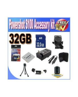 Powershot S100 Accessory Saver Bundle (32Gb Sdhc Memory + Extended Life Battery + Usb Card Reader + Deluxe Camera Case + Accessory Saver Bundle)!