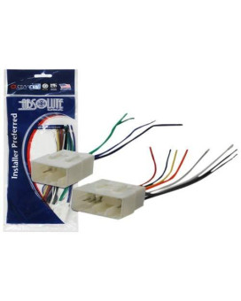 Absolute Usa H856/757903 Radio Wiring Harness For Mazda 1989-2002 Power 4 Speaker (70-7901, Mwh-856)