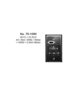 Philmore Stainless Steel Wall Plate With Hdmi, 3.5Mm Stereo, Vga &Amp; 3 Rca (Stereo/Video, 75-1090