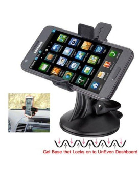 Chargercity Xl64Gb Rigid Low Profile Gelbase Griplock Universal Dashboard Windshield Suction Car Mount Holder With Unobstructed Camera View Recording For Apple Iphones, Samsung Galaxy, Motorola, Nexus, Nokia, Sony Xperia Chargercity Direct Replacement War