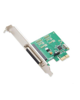 Syba 1 Port Db25 Parallel Pcie X1 Controller Card Wch382L Chipset Ieee1284
