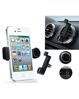 Trineybell Portable Adjustable Car Air Vent Mount Holder 3.5'' - 6.3'' For Mobile Cell Phone Iphone 3 4 4S 5 5S 5C Samsung Galaxy Nokia Htc Blackberry Choose Color (Black)