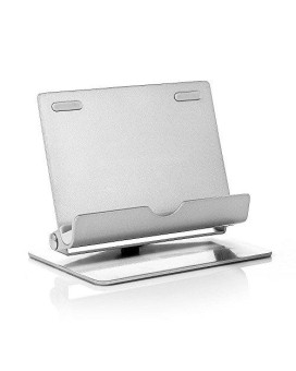 Tmvel 360-Multi-Angle Portable Stand For Tablet And Smartphones, 7-10 Inches - Retail Packaging - Sliver