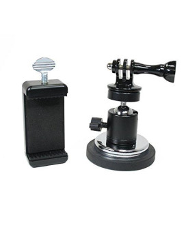 Action Mount | Rubber Coated Magnetic Camera &Amp; Phone Mount W/Ball Head For Dlsr, Sports Camera, Or Phone. Great For Video, Pictures, Livestreaming, Or Wod. (Xl Rubber Coated Magnet)