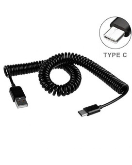 Premium Coiled Type-C Cable Usb Charging Power Wire Sync Cord For Lg V20 G5 G6 - Moto Z Droid Force - Htc 10 - Google Pixel, Xl - Zte Grand X3 X4 Zmax Pro - Samsung Galaxy S8, Plus - All Usb-C Phones
