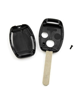 Uxcell New 2 Buttons Uncut Key Shell Fob Remote Control Case Replacement Afc107850 For Honda Civic Accord Crv Pilot Fit