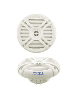 """Dti Ds65Mr 6-1/2"""" 220 Watts Max Power 2-Way Marine Boat Water Resistant High Power Audio Stereo Coaxial Speaker System (White)"""