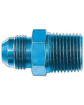 """Aeroquip FCM2005 Blue Anodized Aluminum -06AN Flare 3/8"""" NPT Pipe Fitting"""
