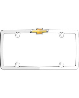 Cruiser Accessories 10437 ChevyNumber Plate Frame, Chrome/Gold