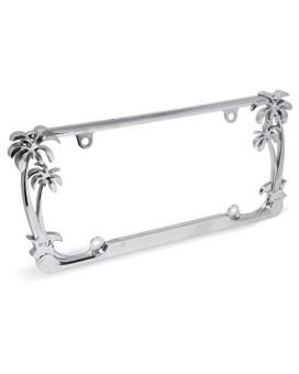 Cruiser Accessories 19003 Palm TreeNumber Plate Frame, Chrome