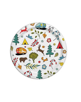 """Camp Casual Eco-Friendly 8 1/2"""" Paper Plates 24 ct - Into The Woods"""