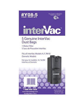 Intervac Vac Y08-5 Dust Bags For H F And Rm Y08-5