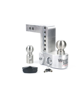 """Weigh Safe Ws6-2 Adjustable Ball Mount With 6"""" Drop And 2"""" Shank"""