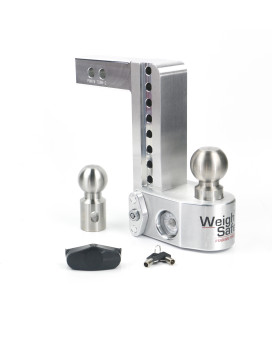 """Weigh Safe Ws8-2 Adjustable Ball Mount With 8"""" Drop And 2"""" Shaft"""