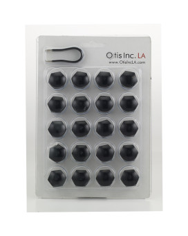 The Original Otis Inc LA 19mm Lug Bolt Covers, fits Porsche 993 - Black