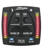 Bennett OBI9000-E Control With Indicator Lights For Bolt Electric Trim Tabs