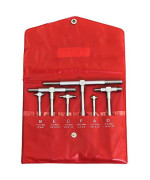 """Anytime Tools Telescopic Cylinder Bore Gauge Set 6 Piece 5/16"""" - 6"""" High Precision Hardened Tips"""