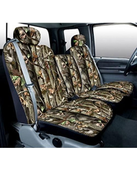 Saddleman Custom Made Front Bench / Backrest Seat Cover - Polyester Fabric (Camouflage)