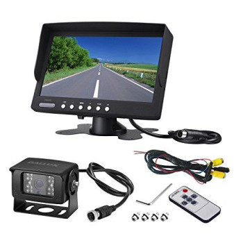 Heavy Duty Vehicle Backup Camera System For Bustruckvantravel Camping Trailer Rv Pickup And Motor Home Waterproof Night Vision Hd Wide Angle Rear View Camera With 7 Inch Monitor Kit(12V 24V)