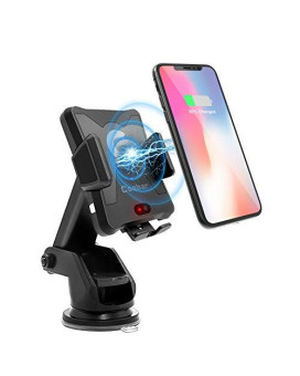 Wireless Car Chargerqi Motor Automatic Infrared Sensor Qi Wireless Charger Car Mount One-Touch Phone Holder Compatible Samsung Galaxy S8/S7/S7 Edge Note 8 & 5W For Iphone X/8/8 Plus & Qi-Enable