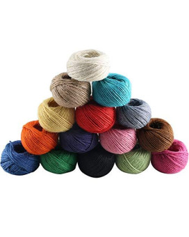 Jute Twine Dayree 15 Roll 1230 Feet (410 Yards) 2mm 3 ply Natural Twine String Cord Rope Roll for Floristry Gifts DIY Arts&Crafts Decoration Gift Wrapping Twine